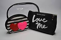"Косметичка женская ""Love me"" набор 3 в 1 силикон+кожзам"