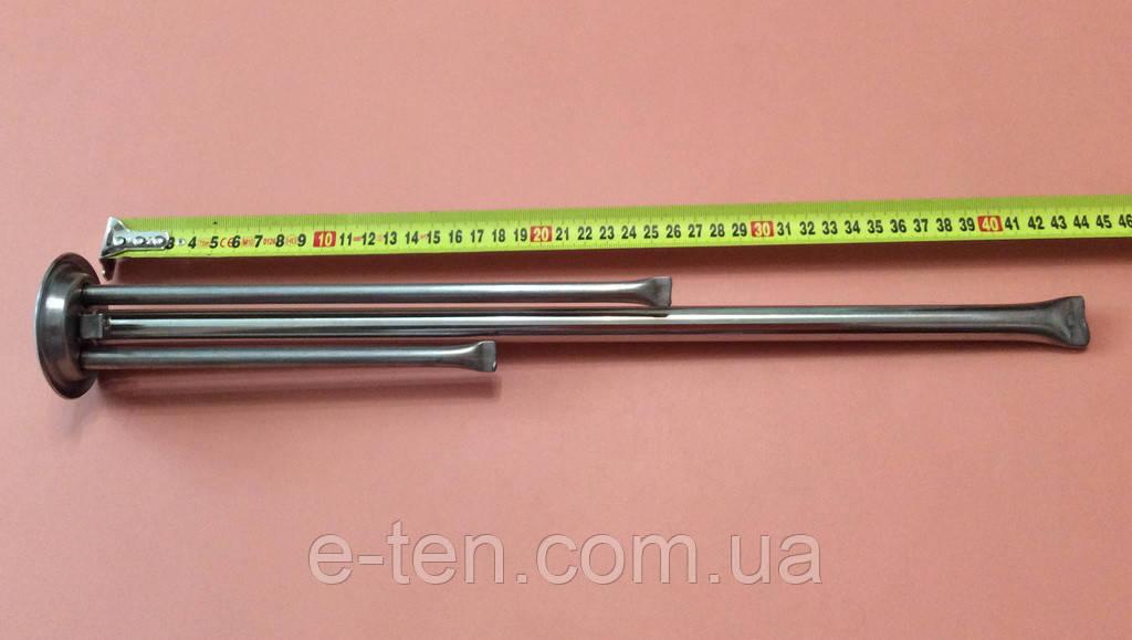 Фланець-колба (нержавійка) Ø63мм / під сухий тен 1200W (з 2-ма трубками під термостати) для бойлерів Thermex