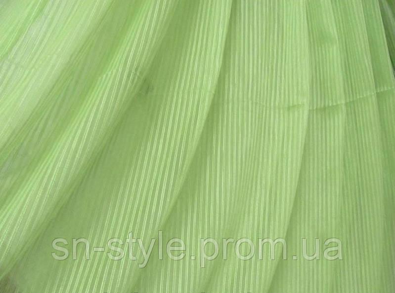 Тюль Pinella полоса зеленая