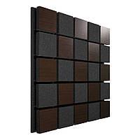 Акустична панель Ecosound Tetras Acoustic Wood Brown 50х50см 53мм колір коричневий