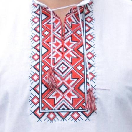 Мужская вышиванка с коротким рукавом, фото 2