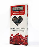 Шоколад Torras Dark Cranberries, 150 г , черный шоколад с ягодами клюквы, без сахара и глютена.
