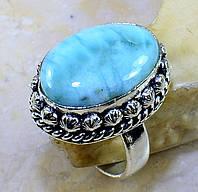 """Овальный перстень с ларимаром """"Морской бриз"""", размер 18.7 от студии  LadyStyle.Biz, фото 1"""