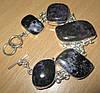 Крупный серебряный браслет  с натуральным чароитом    от студии LadyStyle.Biz