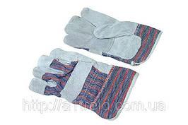 Перчатки рабочие, замшевые серые