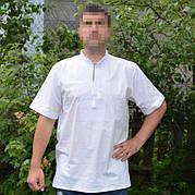 Белая вышивка на белой мужской рубашке