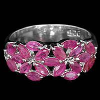 """Ажурное  кольцо """"Цветник """" с рубинами  размер 18,8 от студии LadyStyle.Biz, фото 1"""