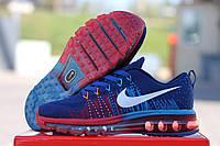 Кроссовки Nike Air Max Flyknit (синие с красным) кроссовки найк nike