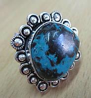 """Восточный перстень """"Индия"""" с натуральной хризоколлой , размер 19,5 от студии LadyStyle.Biz"""