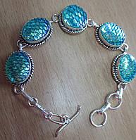"""Красивый браслет  с дихроидным стеклом """"Русалочка"""" от студии LadyStyle.Biz, фото 1"""