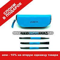 Набор кистей ZOREYA 4 синий / Кисти для макияжа 4, фото 1