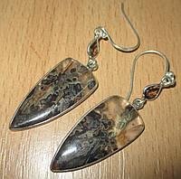 """Серебряные серьги с бразильским агатом и раухтопазом  """"Фейерверк""""  от студии LadyStyle.Biz"""