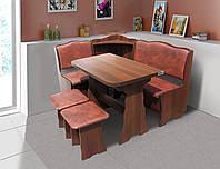 Комплект кухонный обеденный из ЛДСП Симфония (угол+стол+2 табурета)