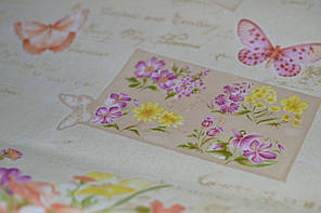 Обои на стену, детские, бабочки, цветы, влагостойкие, бумажные, B56,4 Письмо 8060-05, 0,53*10м, фото 3