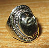 Серебряный перстень  с  золотистым серафинитом  , размер 18,7 от студии LadyStyle.Biz