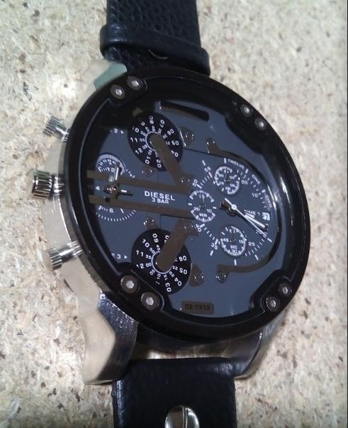 Часы мужские кварцевые Diesel Brave (Дизель Брейв) черные, копия -  Интернет-магазин ecb7de8cadc