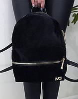 Рюкзак женский VC G013 велюр, черный