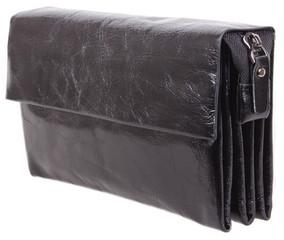 Роскошный мужской кожаный клатч BLACK004-1 черный