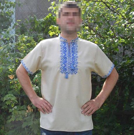 Сорочка вишиванка з коротким рукавом, фото 2