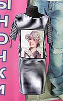 Платье-туника подростковая девушка в шляпе 8-14лет Турция