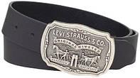 Ремень Levi's Men's Leather Belt with Antiqued Buckle