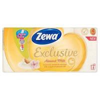 Туалетная бумага Zewa Exclusive Миндальное молочко 8 рулонов 19м/150 листов 4 слоя