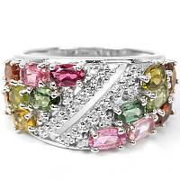 """Щирокий перстень с цветными турмалинами """"Сокровища инков"""", размер 17,7  от студии LadyStyle.Biz, фото 1"""