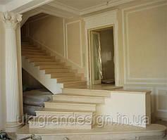 Мраморная лестница из бежевого мрамора