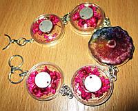 Яркий браслет с солнечным кварцем и сухоцветами от Студии LadyStyle.Biz, фото 1