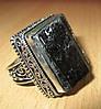 """Крупный серебряный перстень с шерлом """"Дом"""", размер 19,2  от студии LadyStyle.Biz"""