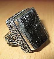 """Крупный серебряный перстень с шерлом """"Дом"""", размер 19,2  от студии LadyStyle.Biz, фото 1"""