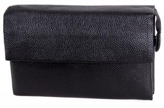 Практичный мужской кожаный клатч BLACK004-3 черный