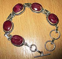 """Симпатичный браслет """"Рококо"""" с  яркими  рубинами от студии LadyStyle.Biz, фото 1"""