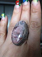 Крупное кольцо с родохрозитом , размер 18,4  от студии LadyStyle.Biz, фото 1