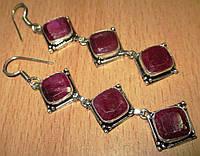 """Элегантные  серьги с рубинами  """"Ромбо"""" от студии LadyStyle.Biz, фото 1"""
