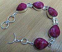 """Красивый браслет """"Алая капля"""" с  яркими  рубинами от студии LadyStyle.Biz, фото 1"""