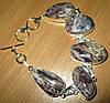 """Светлый серебряный браслет """"Туман"""" с натуральным чароитом    от студии LadyStyle.Biz"""