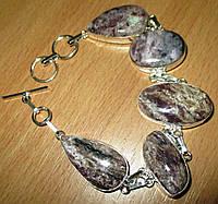 """Светлый серебряный браслет """"Туман"""" с натуральным чароитом    от студии LadyStyle.Biz, фото 1"""