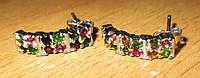 """Серебряные серьги с цветными турмалинами """"Разноцвет"""", размер 17,2  от студии LadyStyle.Biz, фото 1"""