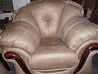 Перетяжка дивана  и кресел ливс