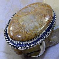 """Перстень  с океаническим кораллом """"Хризантема океана"""", размер 21 от студии  LadyStyle.Biz, фото 1"""