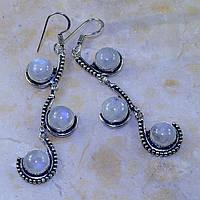 """Серьги  с натуральным лунным камнем """"Венеция"""" от студии LadyStyle.Biz, фото 1"""