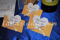 Карточки с именами гостей для свадебного стола, цвет золотой