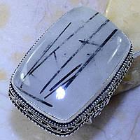 """Прямоугольный перстень с турмалиновым кварцем,  размер 18 """"Венера""""  от студии LadyStyle.Biz, фото 1"""