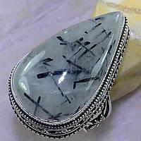 """Каплевидный перстень с турмалиновым кварцем,  размер 17.8 """"Уран""""  от студии LadyStyle.Biz, фото 1"""