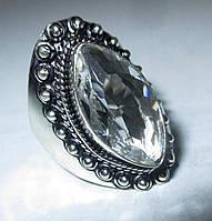 """Элегантное колечко с горным хрусталем, """"Маркиз"""", размер 16.8 от студии  LadyStyle.Biz, фото 1"""