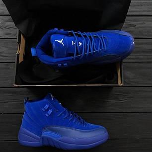 Мужские кроссовки Nike Air Jordan 12 Retro Blue топ реплика, фото 2