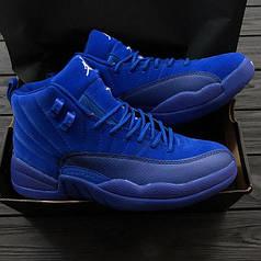Мужские кроссовки Nike Air Jordan 12 Retro Blue топ реплика