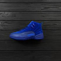 Мужские кроссовки Nike Air Jordan 12 Retro Blue топ реплика, фото 3