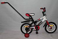 """Велосипед Azimut Stitch А 12"""" (с родительской ручкой) красный ***"""